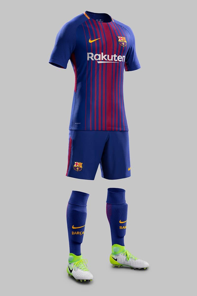 F C Barcelona New Kit For 2017 2018 Season Hypebeast