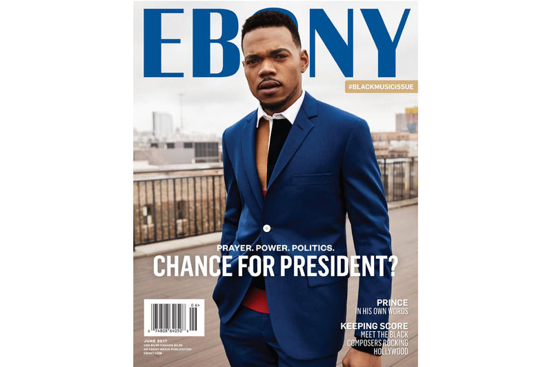 Chance the Rapper Ebony June Cover Story President Black Music Issue