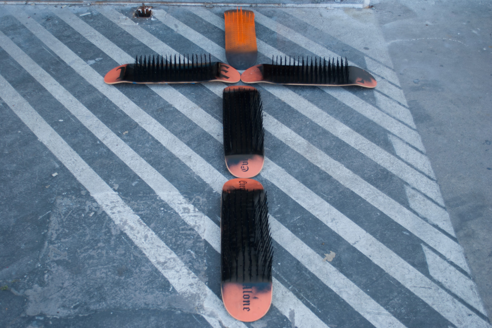 "Andrea ""FACE"" Facelli VLONE Skate Deck Jesus Crucified"