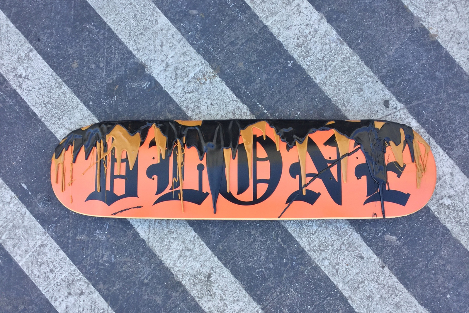"""Andrea """"FACE"""" Facelli VLONE Skate Deck Jesus Crucified"""