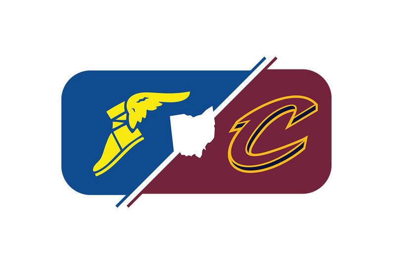 Cleveland Cavaliers Cavs Goodyear Tires Wingfoot Akron Nike Jersey Partnership