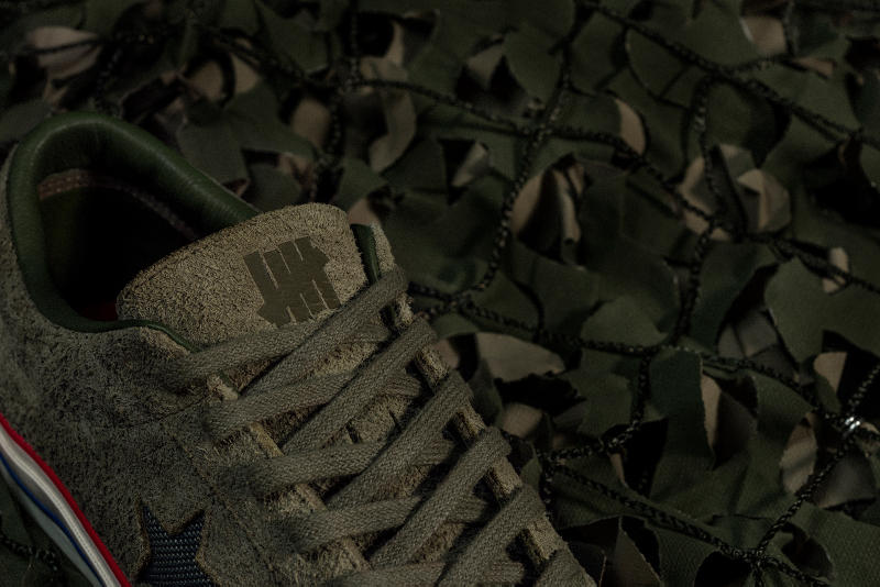 fc0e2b6e1979 UNDEFEATED x Converse One Star olive green close up