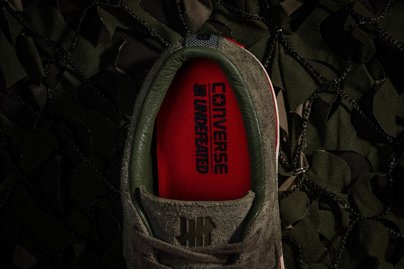 280c283f2a0c UNDEFEATED x Converse One Star olive green bird s eye view