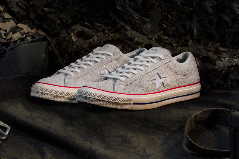 UNDEFEATED x Converse One Star grey side profile