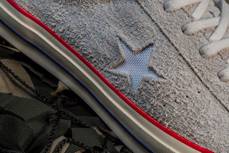 UNDEFEATED x Converse One Star grey close up