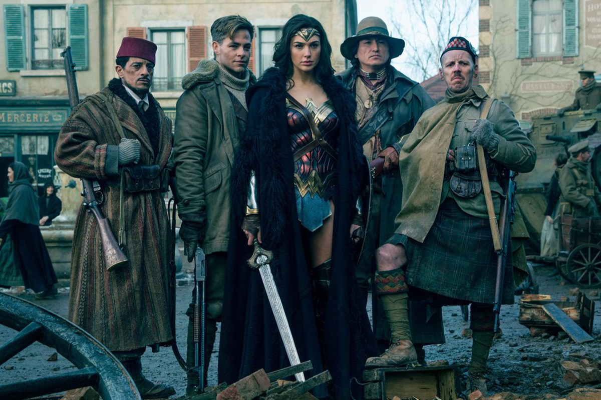 Wonder Woman Gal Gadot Chris Pine DC Comics DCEU