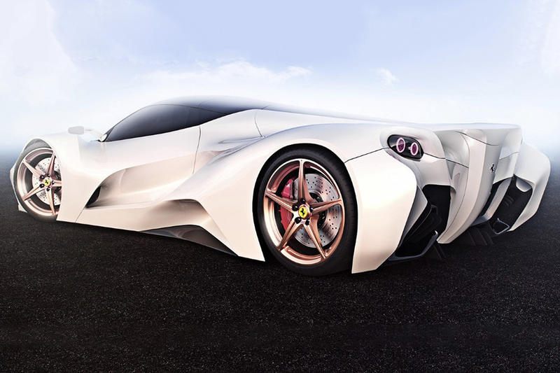 Ferrari White Colorway Concept Ivan Venkov Cars