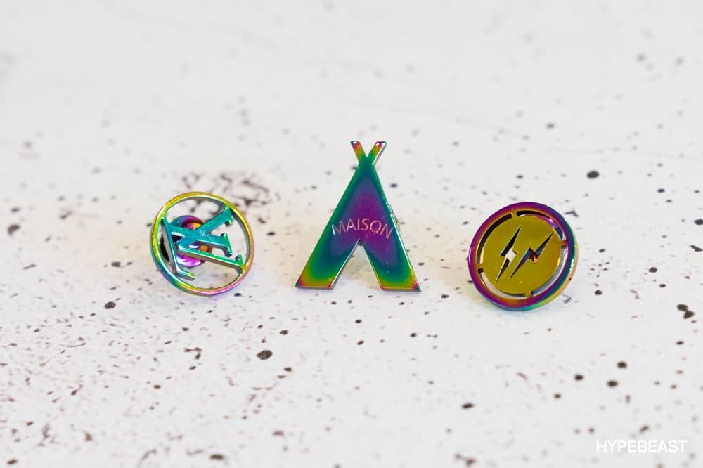 fragment design Louis Vuitton Collaboration Pins