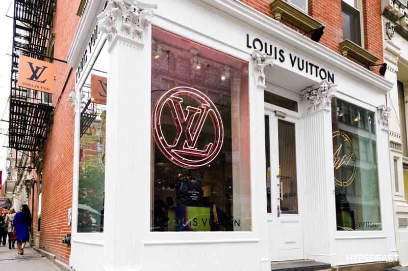 e6f71c797b90 fragment design Louis Vuitton Collaboration Store Sign