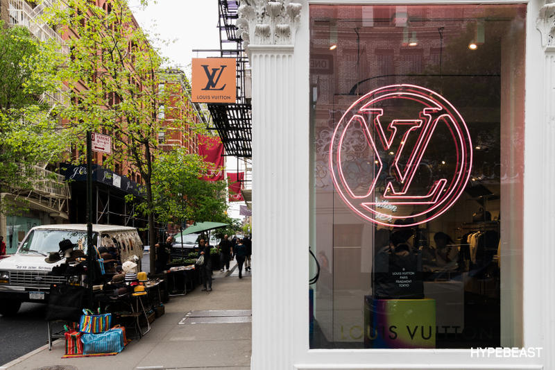72e37c0fcc45 fragment design Louis Vuitton Collaboration Store Front