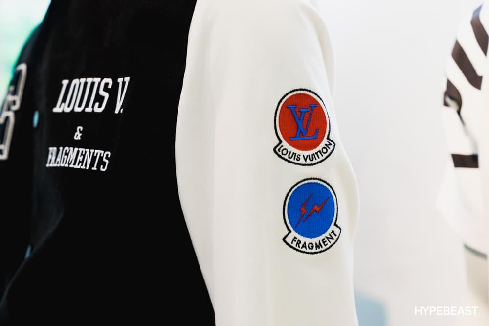 fragment design Louis Vuitton Collaboration Varsity Jacket Patches