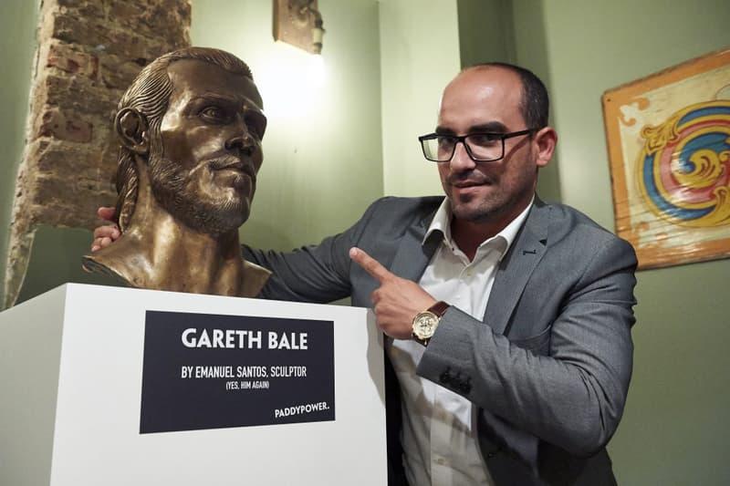 gareth bale cristiano ronaldo 2017 real madrid soccer football la liga bronze statue sculpture bust emanuel santos champions league
