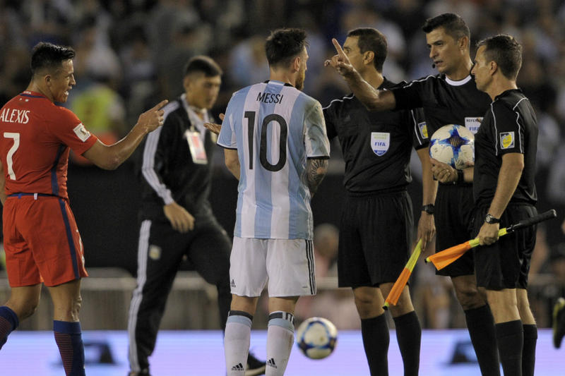lionel leo messi fifa ban chile insulting official declines barcelona initial contract extension offer