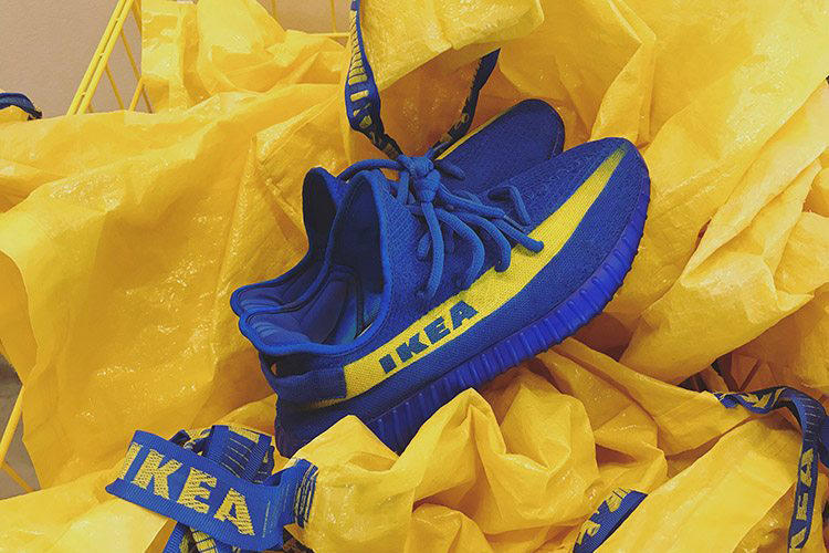 adidas Yeezy Boost 350 V2 IKEA Kvarta Bag Customs