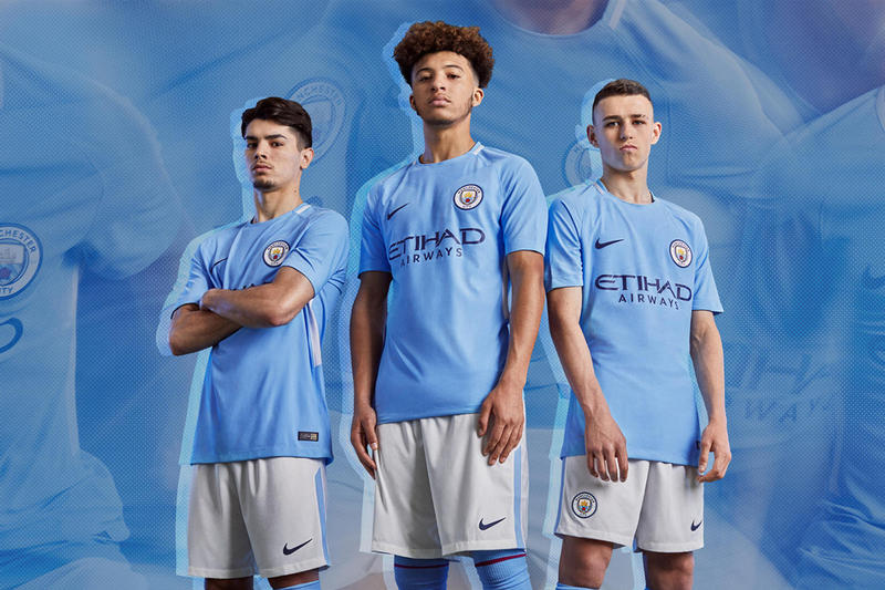 official photos 61659 0c06e Manchester City FC 2017/18 Nike Home Kit | HYPEBEAST