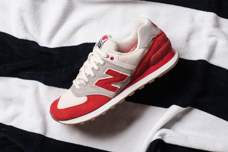 New Balance 574 Terry Cloth Pack Navy Red White Towel