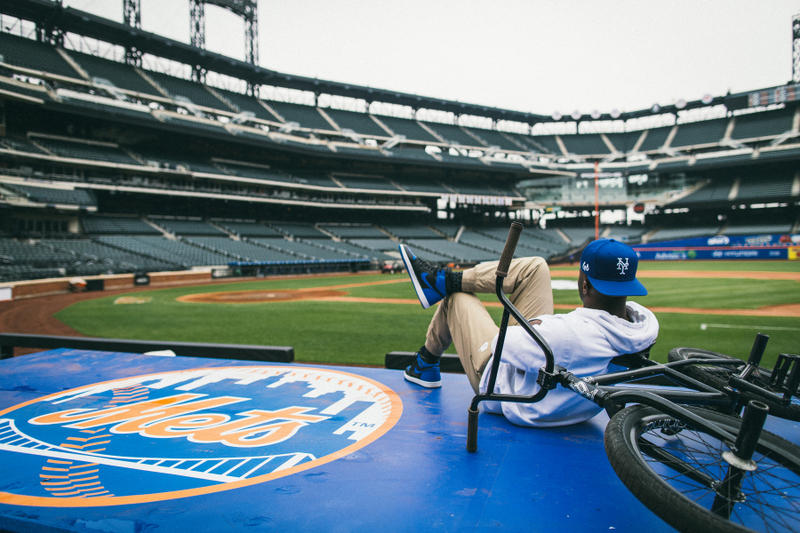 Nigel Sylvester new york Mets New Era Snapbacks hats caps stadium bmx bike bicycle citi field go nike baseball mlb