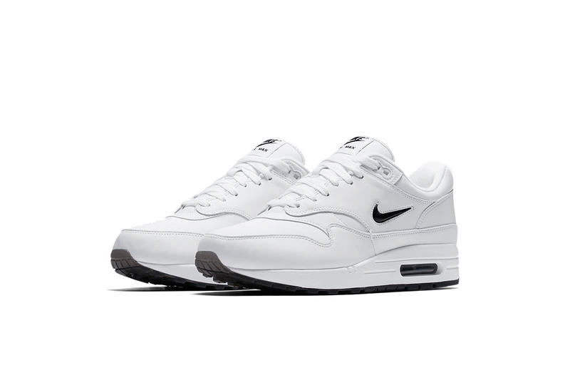 Nike Air Max 1 Jewel White Red White Black Mini Swoosh