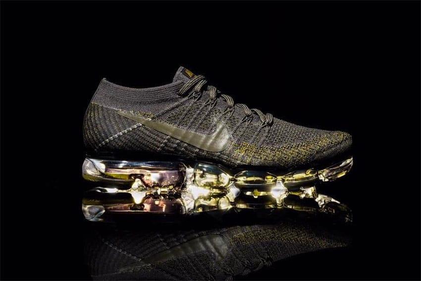 Nike Air VaporMax With Gold Design