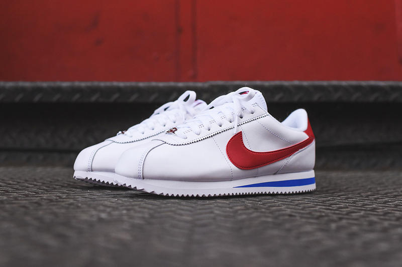 sale retailer d5469 b5029 Nike Cortez Basic Leather OG White Red Blue
