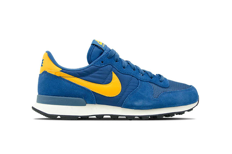 best authentic fd6a6 c6e62 Nike Internationalist Court Blue Yellow Colorway Running Shoe Sneaker