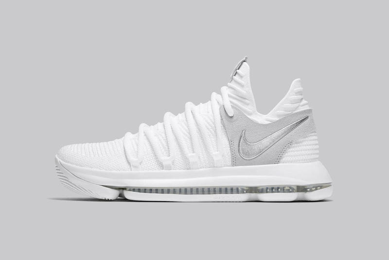 various colors 90b6b 51d5e Nike KD 10 Still KD White Chrome Pure Platinum