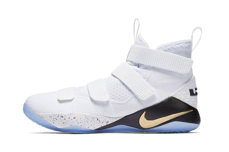 1a8a4b213db8 Nike LeBron Soldier 11 SFG white gold black