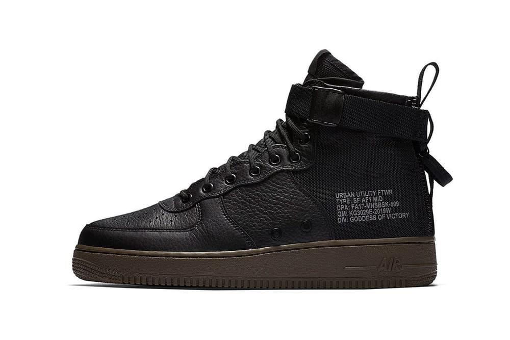 Nike SF AF1 Mid Black Cargo Khaki