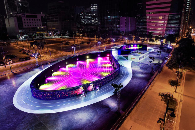 Nike's Unlimited Stadium in Manila Is an LED Running Track of Dreams