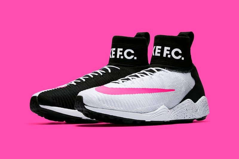 ea038dde2a587 Nike Zoom Mercurial Flyknit IX F.C. Black White Pink