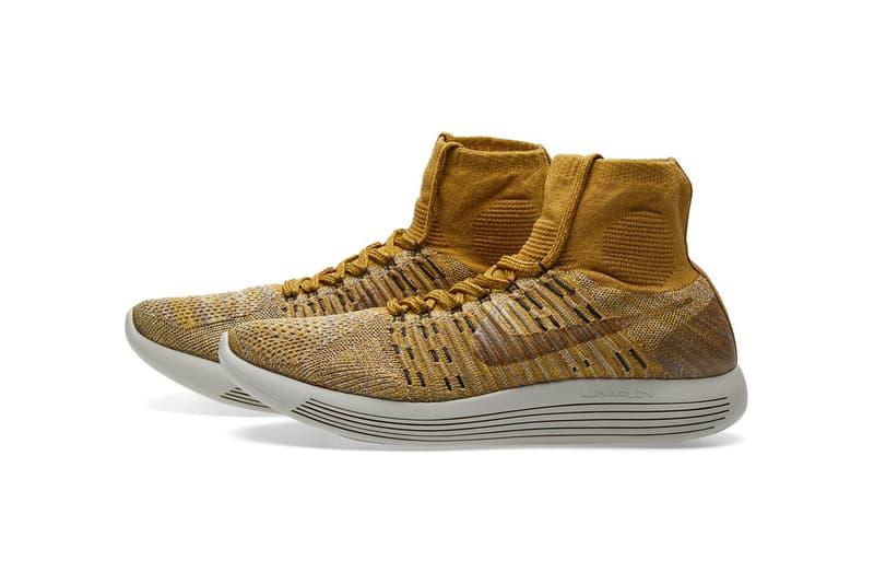 6366fe51049e NikeLab LunarEpic Flyknit Pale Grey Golden Beige