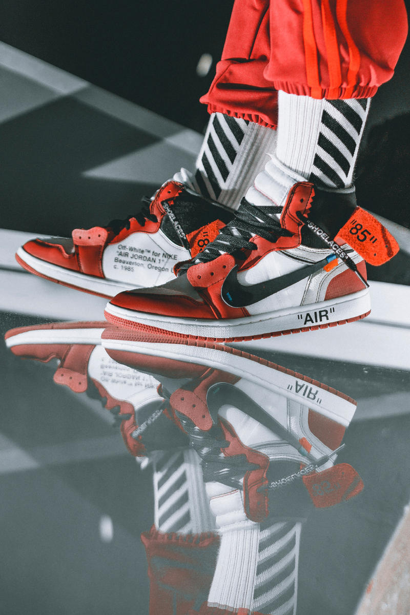 wholesale dealer d072a cf414 OFF-WHITE Air Jordan 1 On-Feet Virgil Abloh