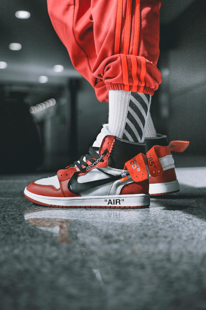 aa711834c722ca OFF-WHITE Air Jordan 1 On-Feet Virgil Abloh