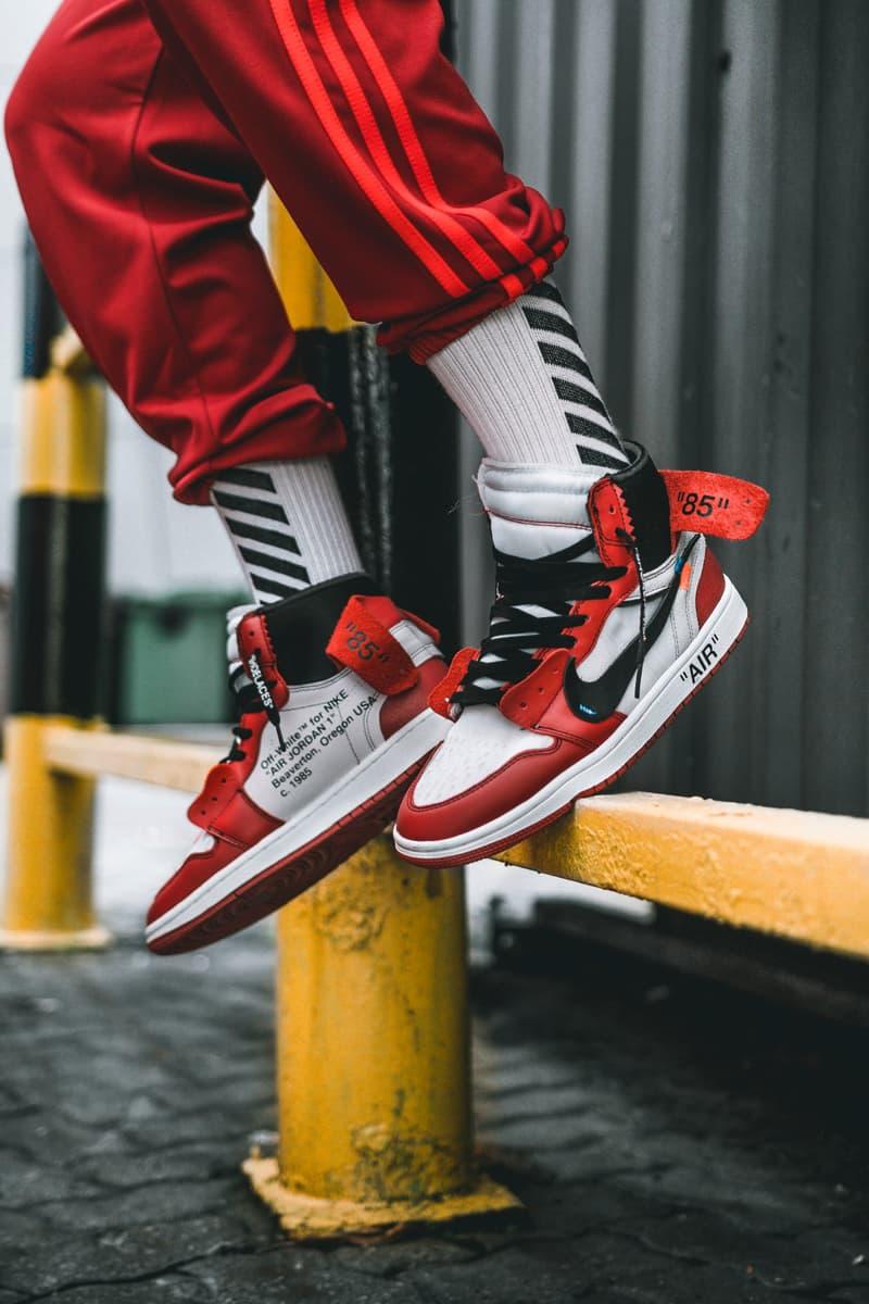 Off White X Air Jordan 1 On Feet Images Hypebeast