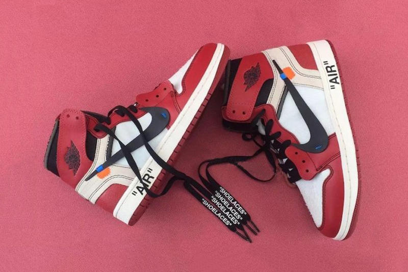 OFF-WHITE Air Jordan 1 Virgil Abloh Jordan Brand Footwear Sneakers