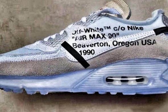 """OFF-WHITE Nike Air Max 90 """"Ice"""""""