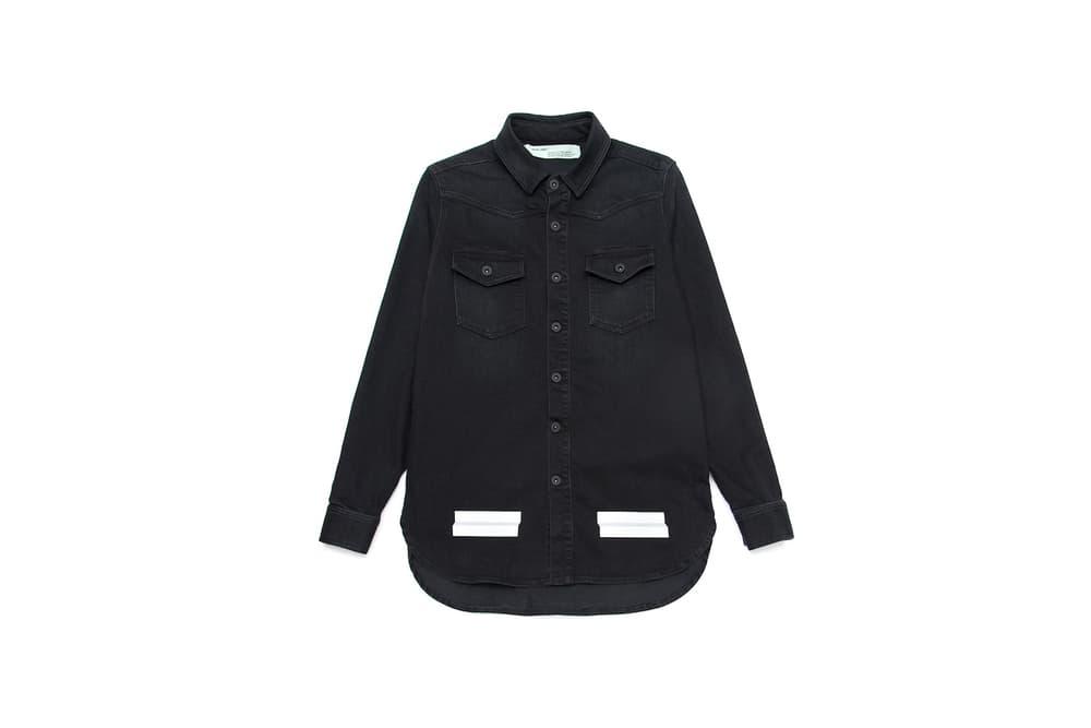 OFF-WHITE c/o VIRGIL ABLOH Hong Kong Exclusive Items Binder Clip Handbag T-shirt Hoodie Jeans