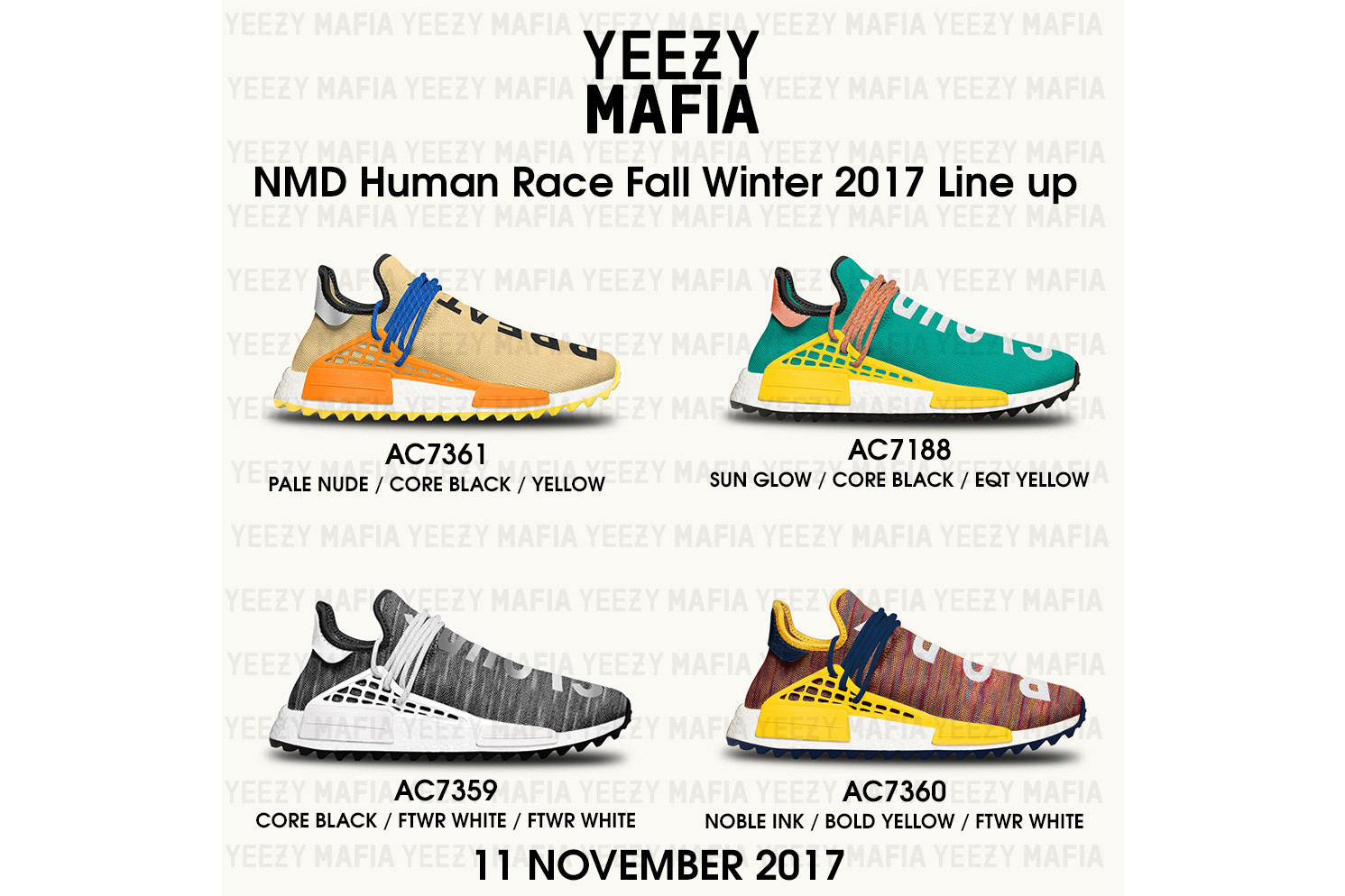 a7fcc238600fb Pharrell Williams adidas NMD Human Race Trail 2017 November Release Date