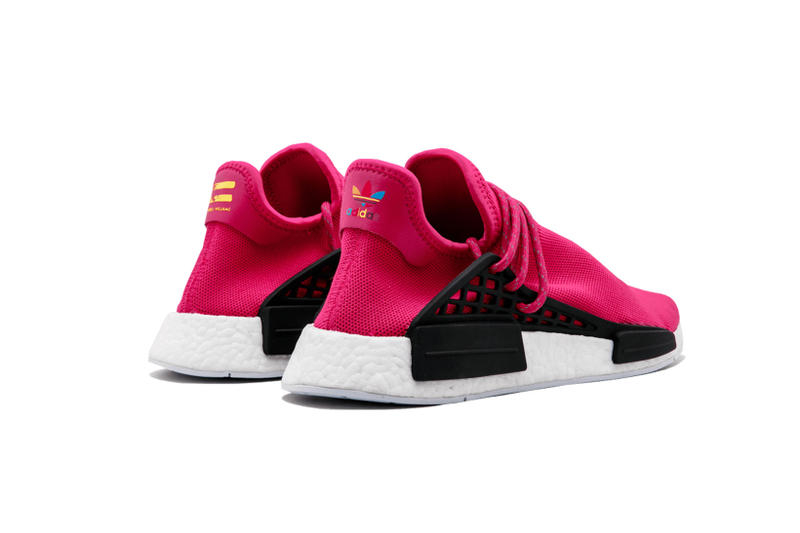 Pharrell Williams adidas Originals NMD Human Race Shock Pink Friends and Family Auction ACLU eBay Stadium Goods