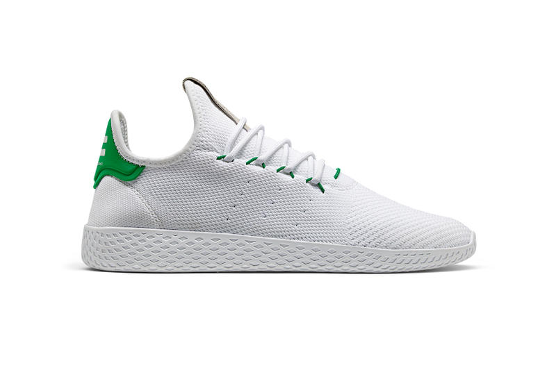 5b2028eda5df3 Pharrell Williams adidas Originals Tennis Hu White Green Yellow Gold