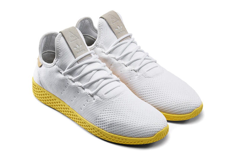 Pharrell Williams adidas Originals Tennis Hu White Green Yellow Gold