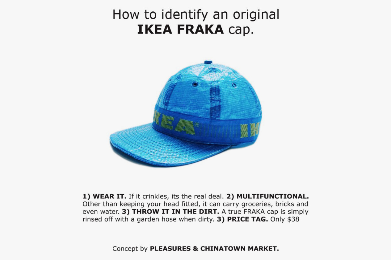Pleasures Chinatown Market IKEA Frakta Bag Hat Streetwear Apparel Accessories Fashion