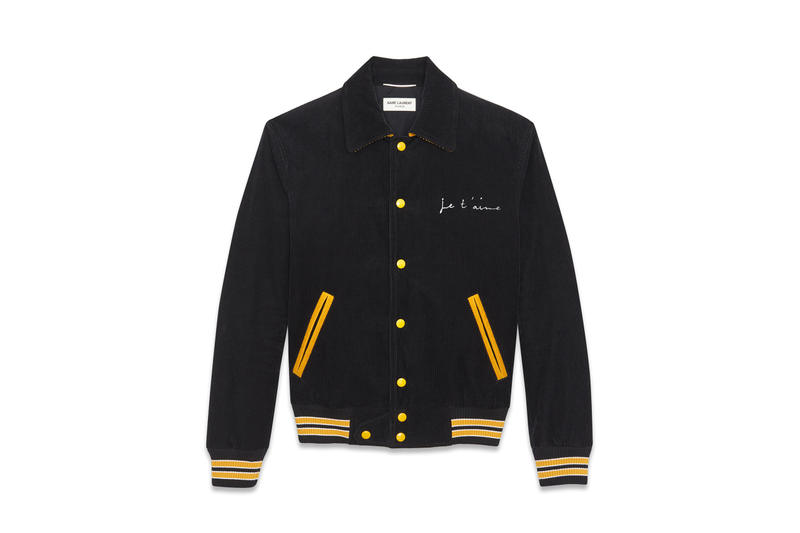"""Saint Laurent """"Je T'aime"""" Teddy Jacket Price Black Royal Blue"""