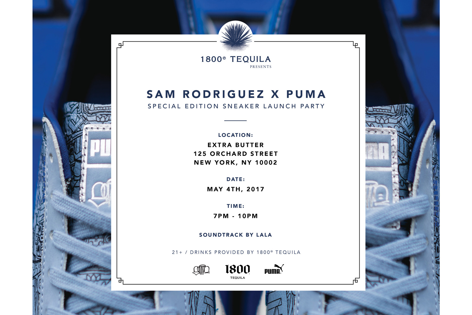 Sam Rodriguez 1800 Tequila PUMA Clyde Launch Party