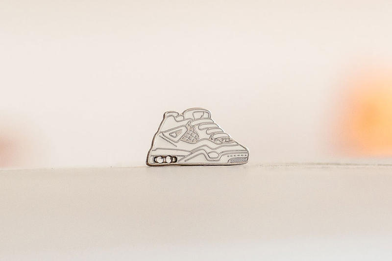 Nike Air Jordan 4 Pure Money Enamel Pin SOLEHEAVEN SneakerToons Prez-One