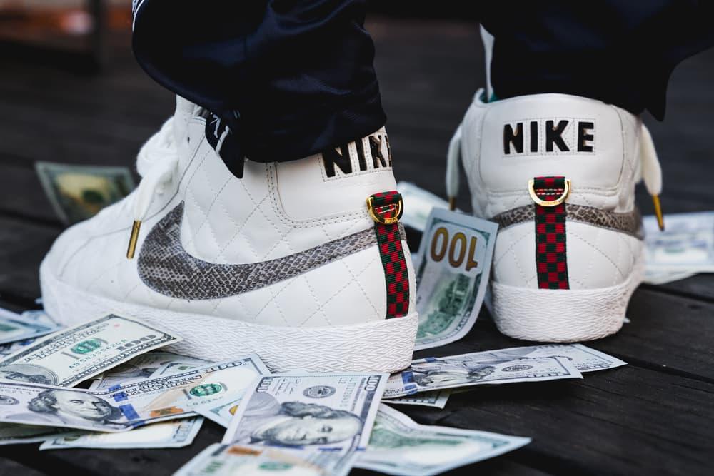 Streetsnaps Playboi Carti Supreme Nike Blazer White Money