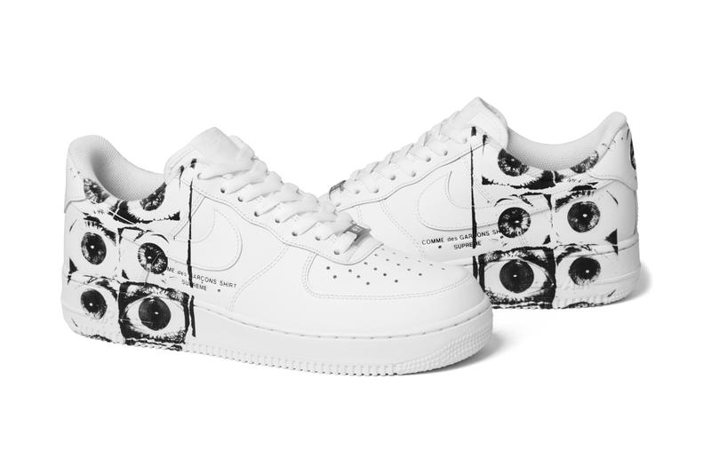 Supreme COMME des GARÇONS SHIRT Nike Air Force 1 Low Release Info Date 7f56898f9