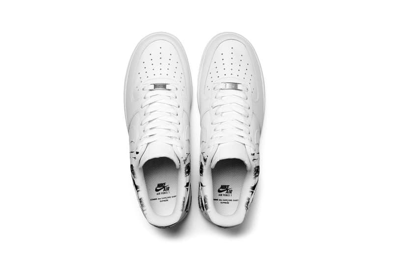 Supreme COMME des GARÇONS SHIRT Nike Air Force 1 Low Release Info Date