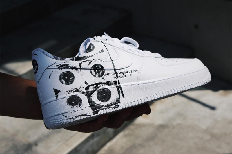 meet be934 030d1 Supreme x COMME des GARÇONS Air Force 1 Low Drop | HYPEBEAST