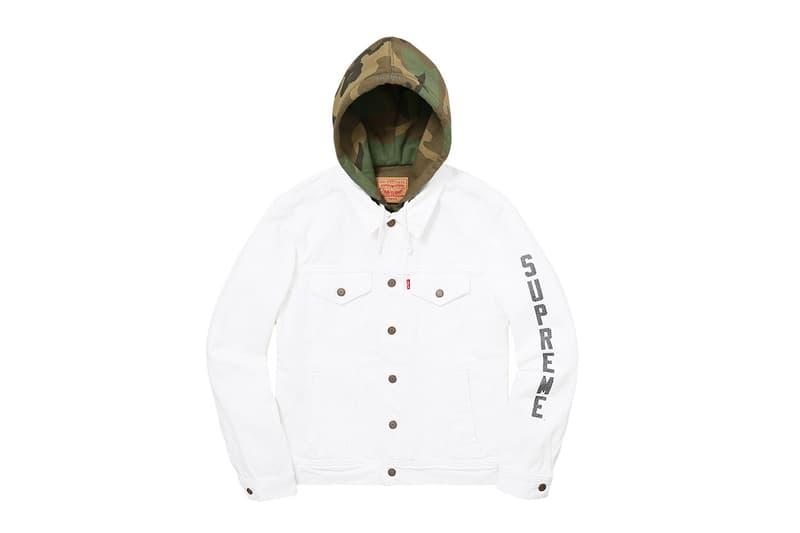 Supreme x Levi's 2017 Jacket White Green